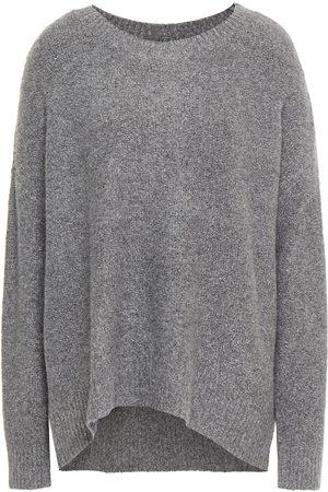 ALICE+OLIVIA Woman Roma Bouclé-knit Sweater Gray Size L