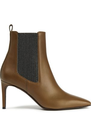 Brunello Cucinelli Woman Mid Heel Boots Army Size 37
