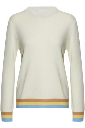Chinti & Parker Woman Striped Wool And Cashmere-blend Sweater Ivory Size L