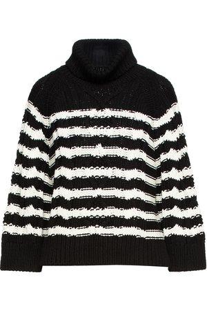 RED Valentino Woman Striped Cotton Sweater Size M