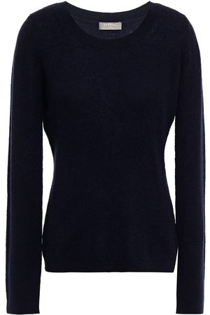 N.PEAL Woman Cashmere Sweater Navy Size L