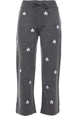 Chinti & Parker Woman Intarsia Wool And Cashmere-blend Track Pants Anthracite Size L