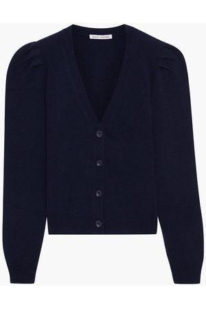 AUTUMN CASHMERE Woman Gathered Cashmere Cardigan Navy Size L
