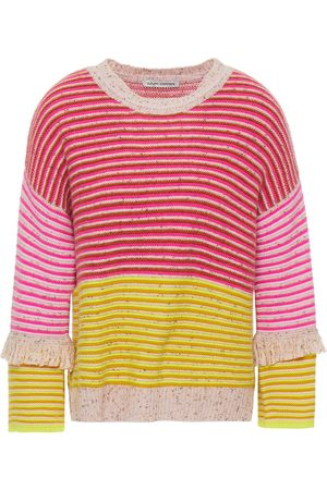 AUTUMN CASHMERE Woman Striped Donegal Cashmere Sweater Baby Size L