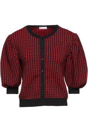 RED Valentino Woman Metallic Jacquard-knit Cardigan Size L