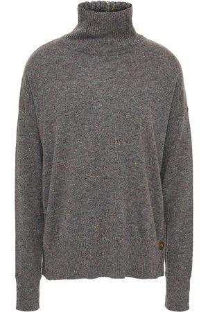 AUTUMN CASHMERE Woman Donegal Cashmere Turtleneck Sweater Dark Gray Size L