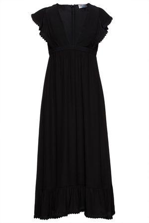 RED Valentino Woman Ruffled Silk Crepe De Chine Midi Dress Size 38