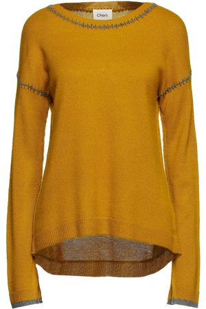 Charli Woman Amber Donegal Cashmere Sweater Mustard Size L