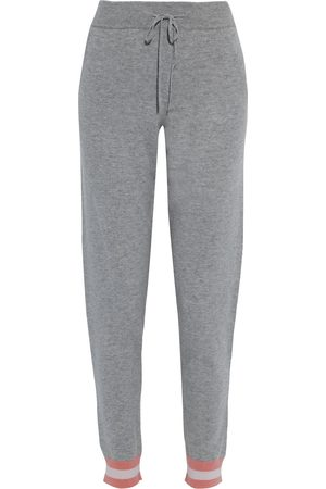 CHINTI & PARKER Woman Striped Wool And Cashmere-blend Track Pants Gray Size L