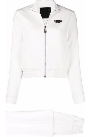 Philipp Plein Women Trousers - Embellished-trim logo badge tracksuit