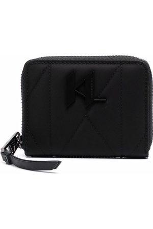 Karl Lagerfeld Women Purses & Wallets - Logo-plaque zip-up wallet