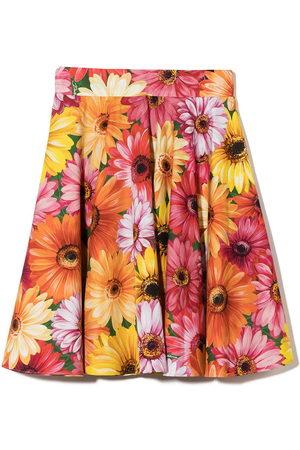 Dolce & Gabbana Kids Floral-print A-line skirt