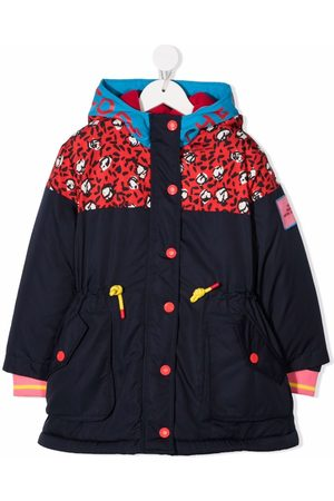 The Marc Jacobs Girls Rain Jackets - Abstract-print hooded jacket