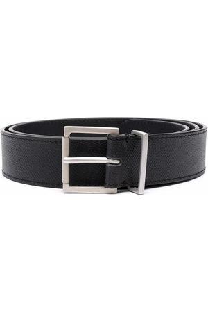 Maison Margiela Men Belts - Buckle grained leather belt