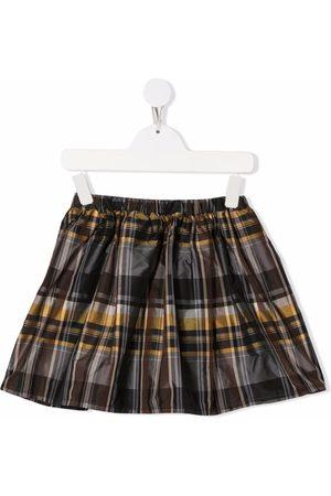 Piccola Ludo Plaid-check print skirt