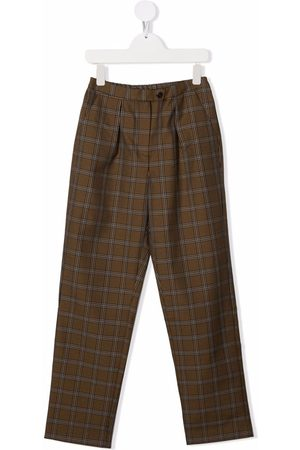 Bonpoint TEEN check tailored trousers