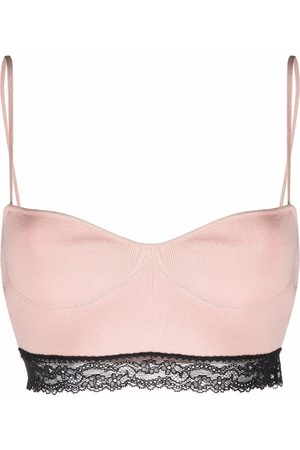 RED Valentino Floral-lace bandeau top and shorts set
