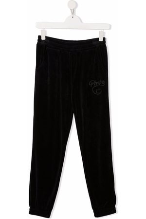 Pinko Kids Embroidered jersey track pants