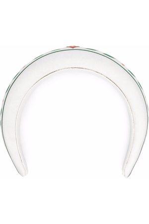 Casablanca Logo-plaque silk headband