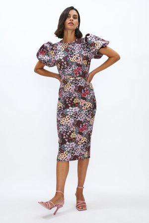 Coast Women Pencil Dresses - Coast Puff Sleeve Scuba Pencil Dress, Multi