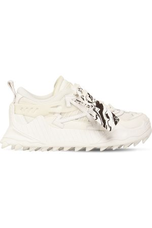 OFF-WHITE 45mm Odsy Mesh & Faux Leather Sneakers