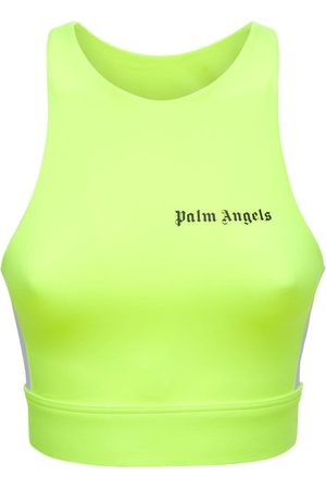 Palm Angels Logo Side Band Jersey Crop Top
