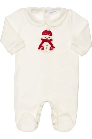 La Perla Girls Jumpsuits - Snowman Cotton Romper