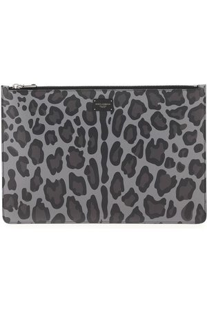 Dolce & Gabbana LEOPARD DAUPHINE POUCH OS , Leather