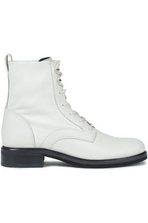 RAG&BONE Women Boots - Woman Slayton Leather Combat Boots Stone Size 36