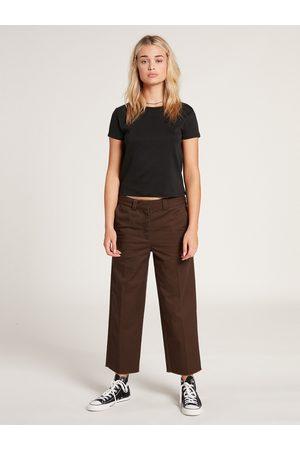 Volcom Women Trousers - Women's Whawhat Chino Pant - DARK