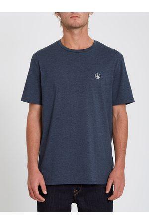 Volcom Men Short Sleeve - Men's Circle Blanks T-shirt - NAVY