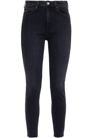RAG&BONE Woman Cropped High-rise Skinny Jeans Anthracite Size 23