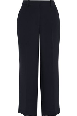3.1 PHILLIP LIM Women Trousers - Woman Cropped Crepe Straight-leg Pants Midnight Size 4