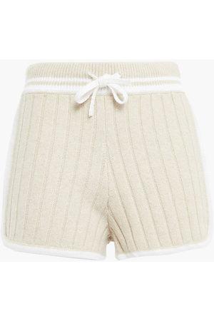 RAG&BONE Woman Serena Ribbed-knit Shorts Ecru Size M