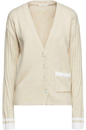 RAG&BONE Woman Two-tone Wool-blend Cardigan Ecru Size L