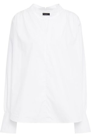 RAG&BONE Women Tops - Woman Carly Cotton-blend Poplin Top Size L