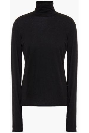 RAG&BONE Women Sports Tops - Woman The Gaia Organic Pima Cotton-jersey Turtleneck Top Size L