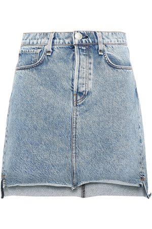RAG&BONE Women Mini Skirts - Woman Denim Mini Skirt Mid Denim Size 23