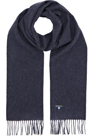 Barbour Plain Lambswool Scarf - Sapphire Mix