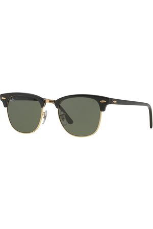 Ray-Ban Men Sunglasses - Clubmaster s Sunglasses - Ebony Arista ~ Crystal