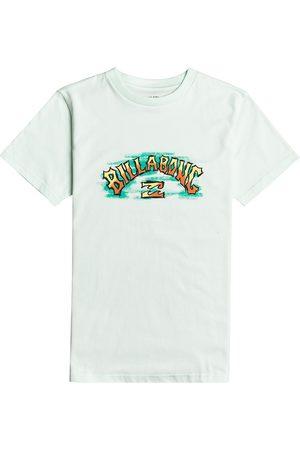 Billabong Boys Short Sleeve - Arch Crayon Boys Short Sleeve T-Shirt - Seaglass