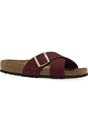 Birkenstock Siena Nubuck s Sandals - Maroon