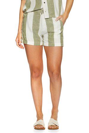 Quiksilver Women Shorts - Destination Trip s Shorts - Calliste Gr Bold Linen Stripes