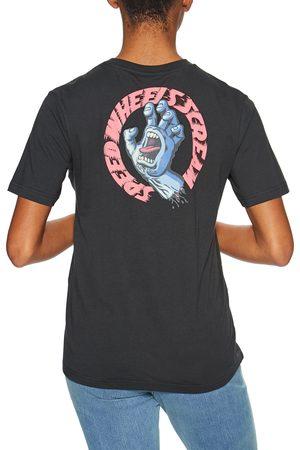 Santa Cruz Women Short Sleeve - Vintage Screaming Hand Scream s Short Sleeve T-Shirt - Wash