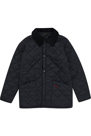 Barbour Liddesdale Short Boys Quilted Jacket - Navy
