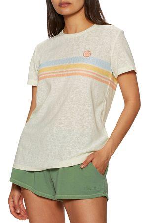 Rip Curl Blossom Stripe s Short Sleeve T-Shirt - Bone