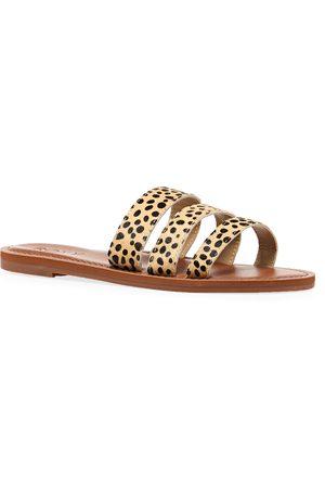 Roxy Wyld Rose s Sandals - Cheetah Print