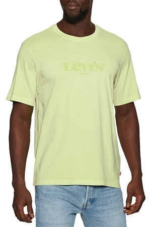Levi's Logo s Short Sleeve T-Shirt - Ssnl Mv Logo Garment Dye Shadow Lime