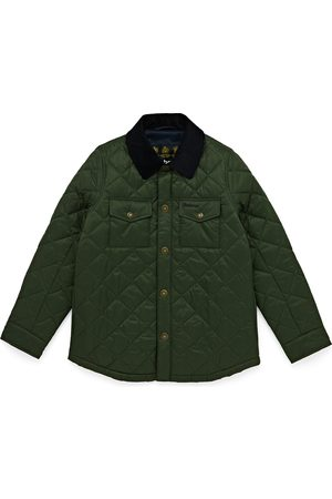 Barbour Shirt Boys Quilted Jacket - Olive