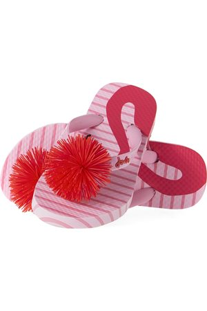 Joules Junior Girls Flip Flops - Flamingo